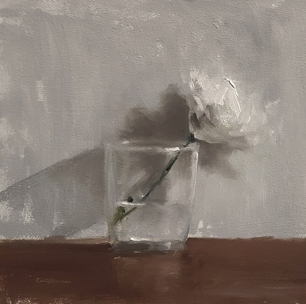"""Flower in Glass"" original fine art by Neil Carroll"