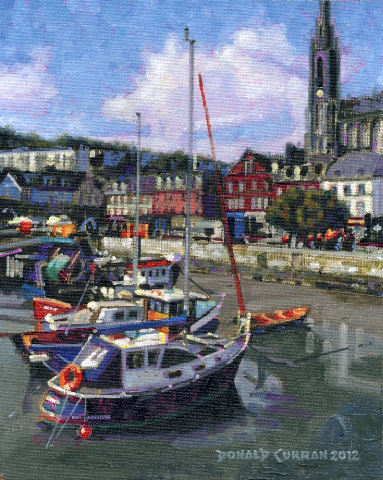 """Cobh Harbour, Ireland"" original fine art by Donald Curran"