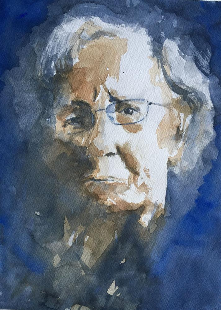 """ELDERLY WOMAN WITH GLASSES"" original fine art by Ferran Llagostera"