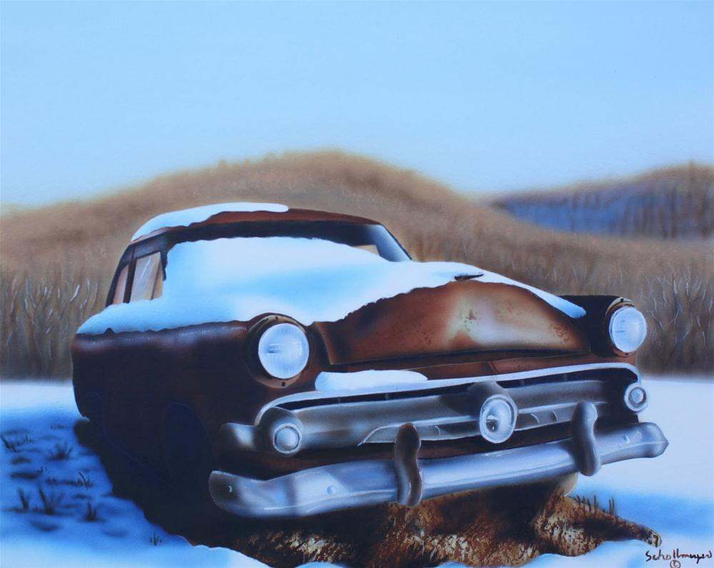"""Laid to Rust"" original fine art by Fred Schollmeyer"