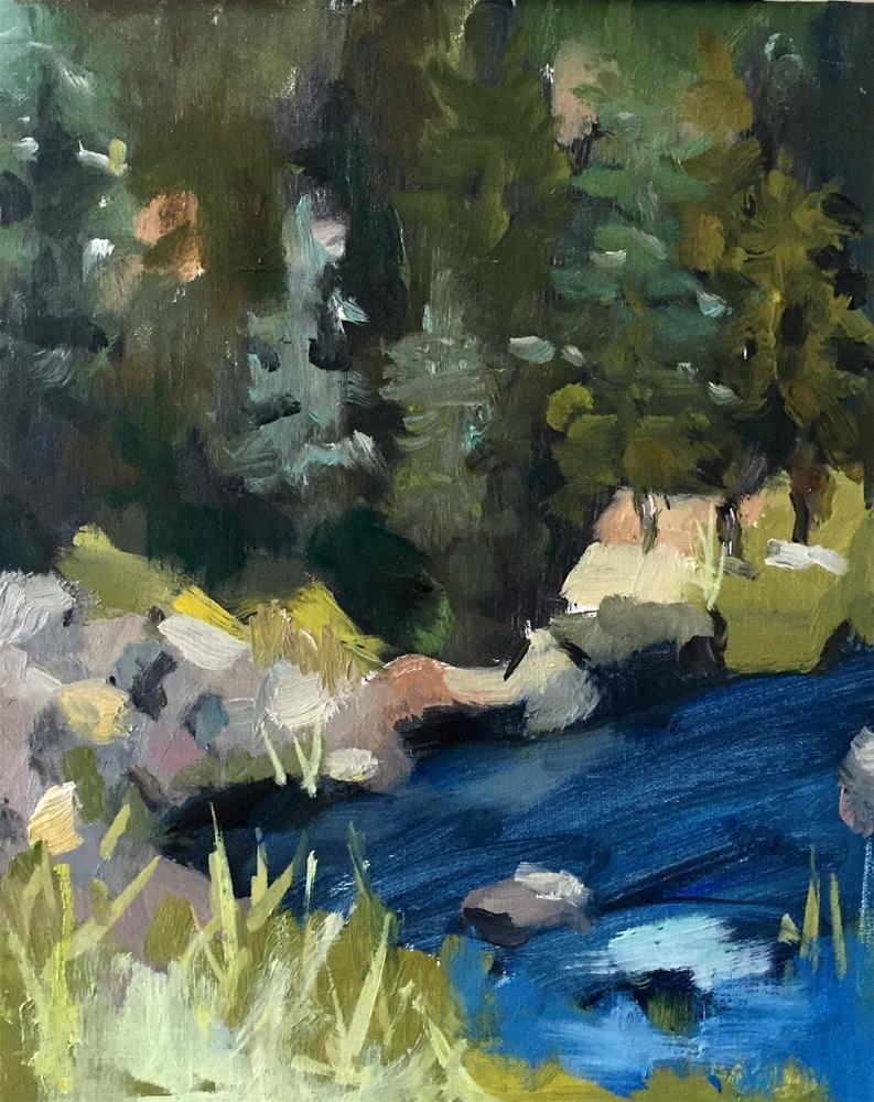 """Mountain Village"" original fine art by Marcia Hodges"