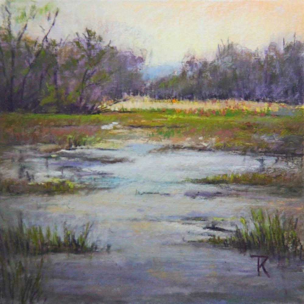 """Evening at the lake"" original fine art by Tatiana Myers"