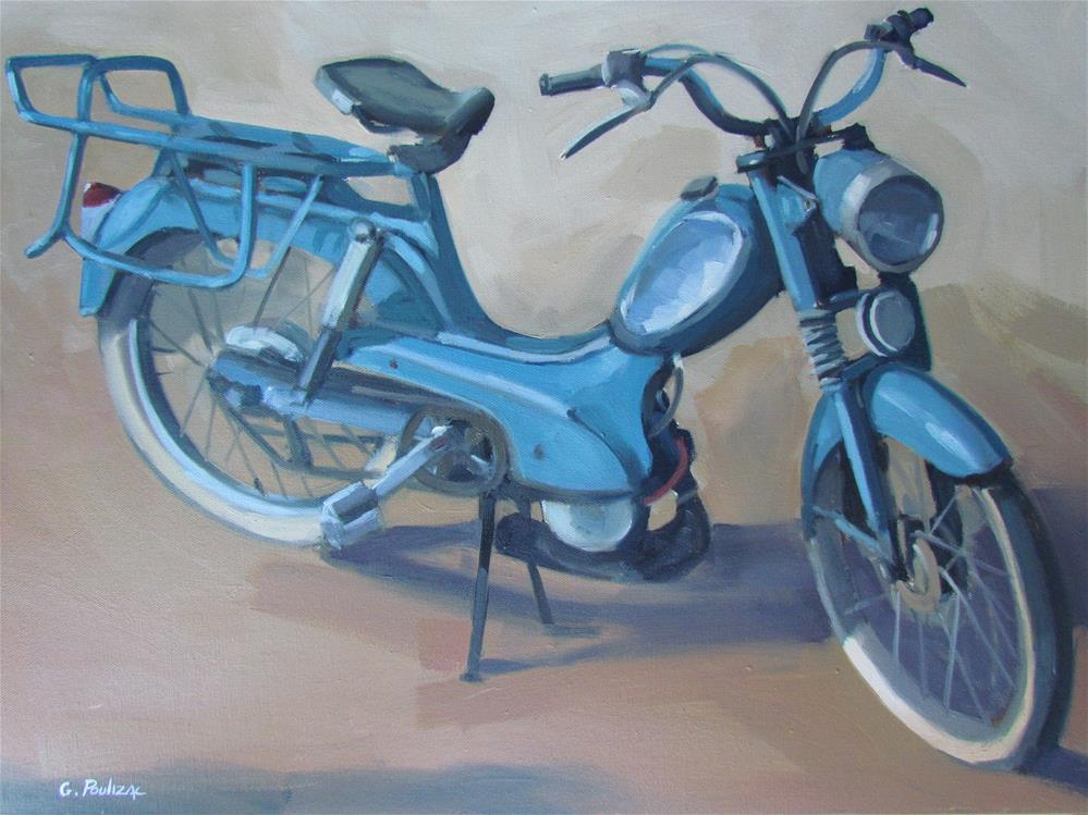 """la mobe bleue"" original fine art by gilles Poulizac"