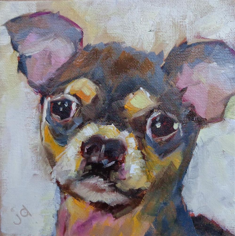 """""""I'm looking at you"""" original fine art by Jean Delaney"""