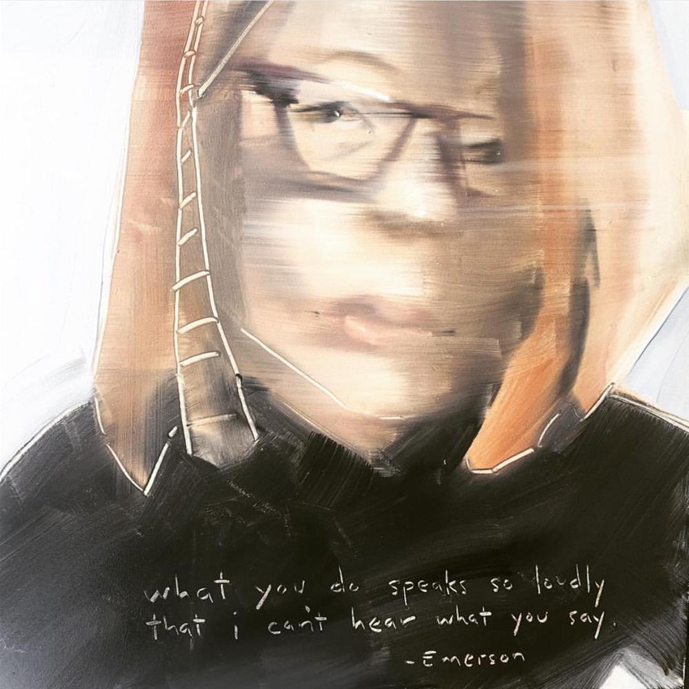 """482 What You Do"" original fine art by Jenny Doh"