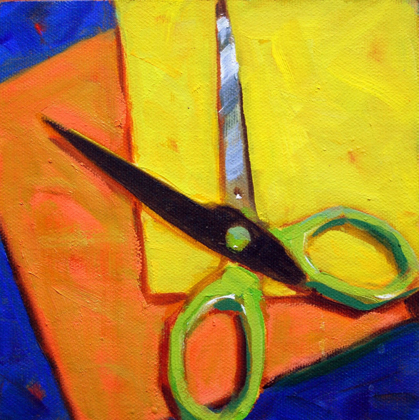 Scissors - With Carol Marine's Influence original fine art by Julie Ford Oliver