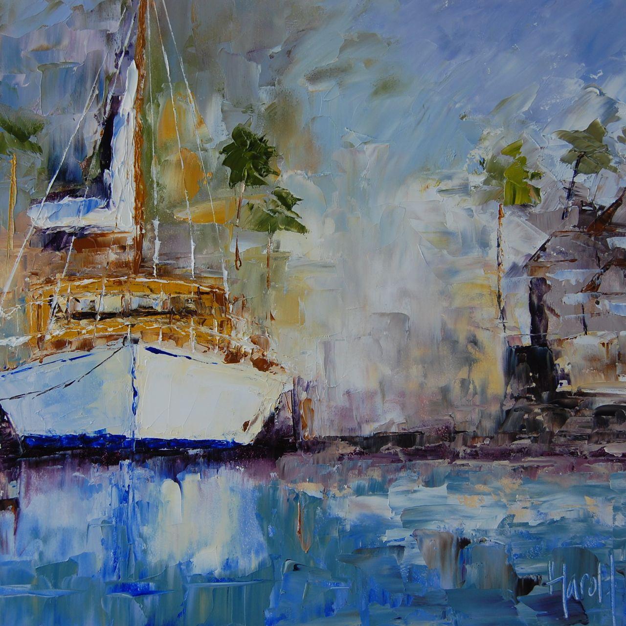 """Newport Harbor From a kayak"" original fine art by Deborah Harold"