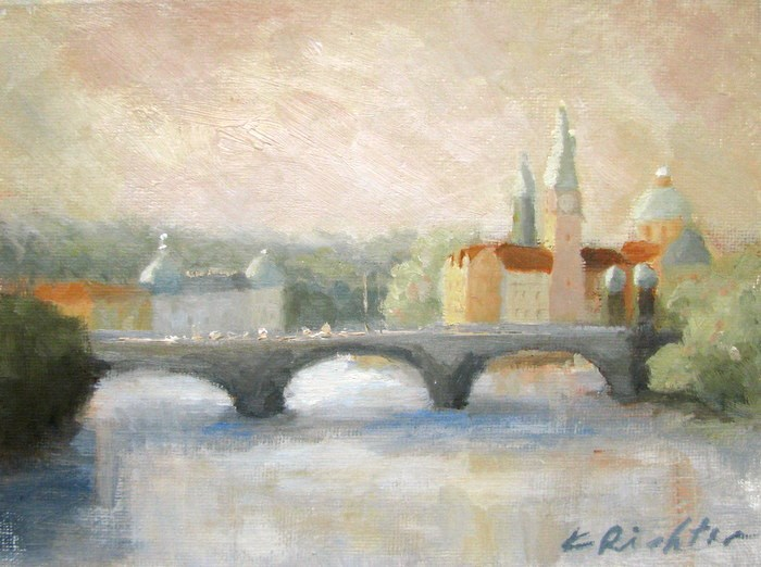 """Sunset Color, Prague"" original fine art by Keiko Richter"