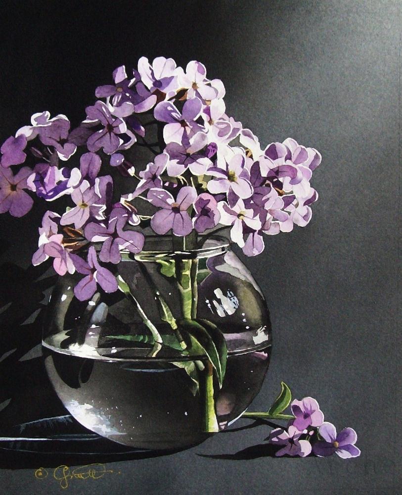 """Wildflower Series: Still Life with Phlox"" original fine art by Jacqueline Gnott, whs"