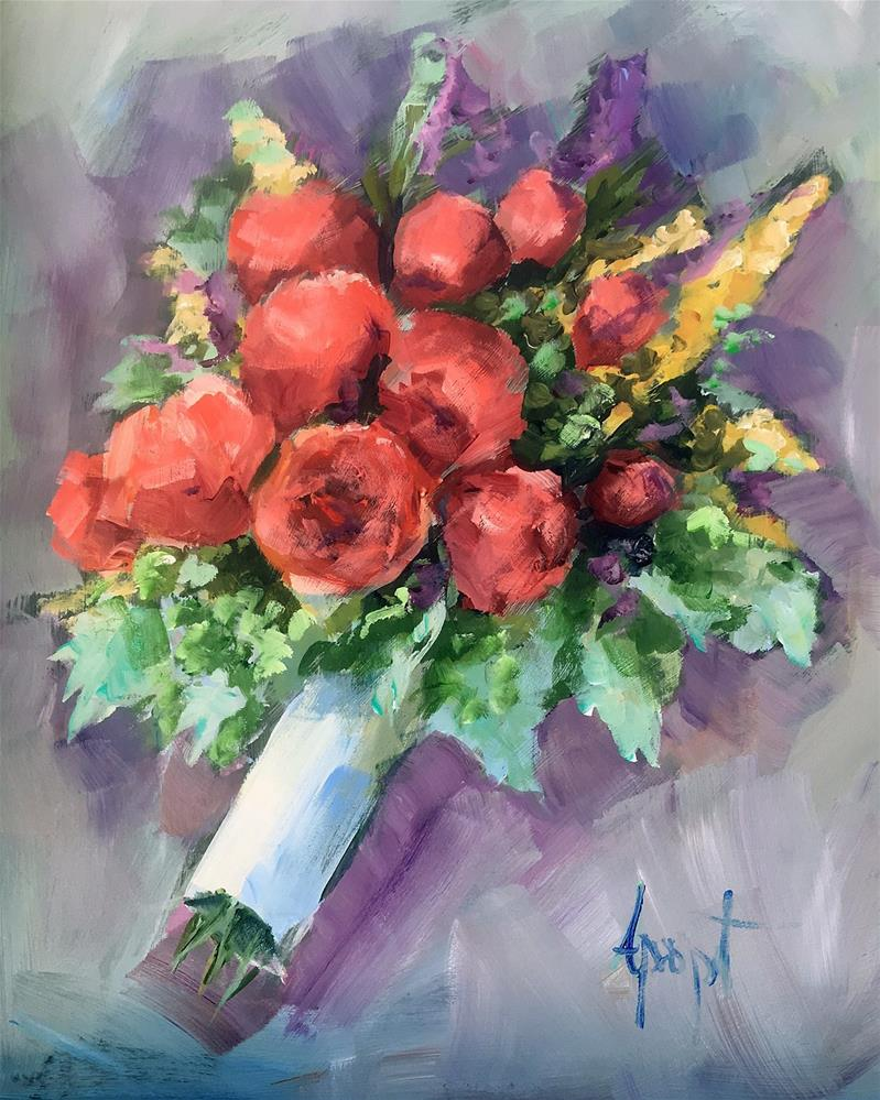 """Bouquet"" original fine art by Anne Marie Propst"