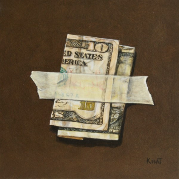"""Wrinkly Ten Dollar Bill"" original fine art by Kim Testone"