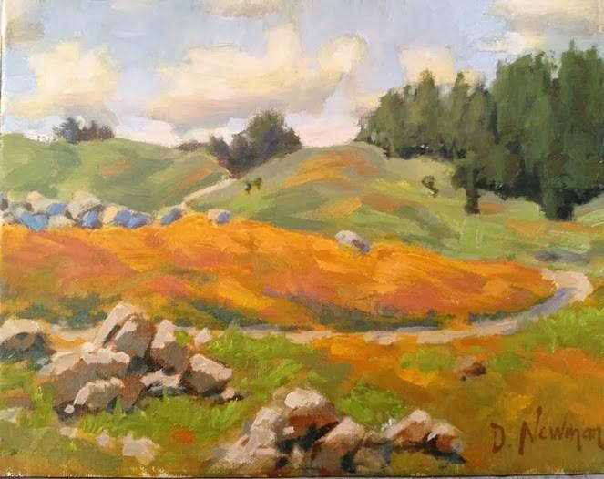 """Spring Walk"" original fine art by Deborah Newman"