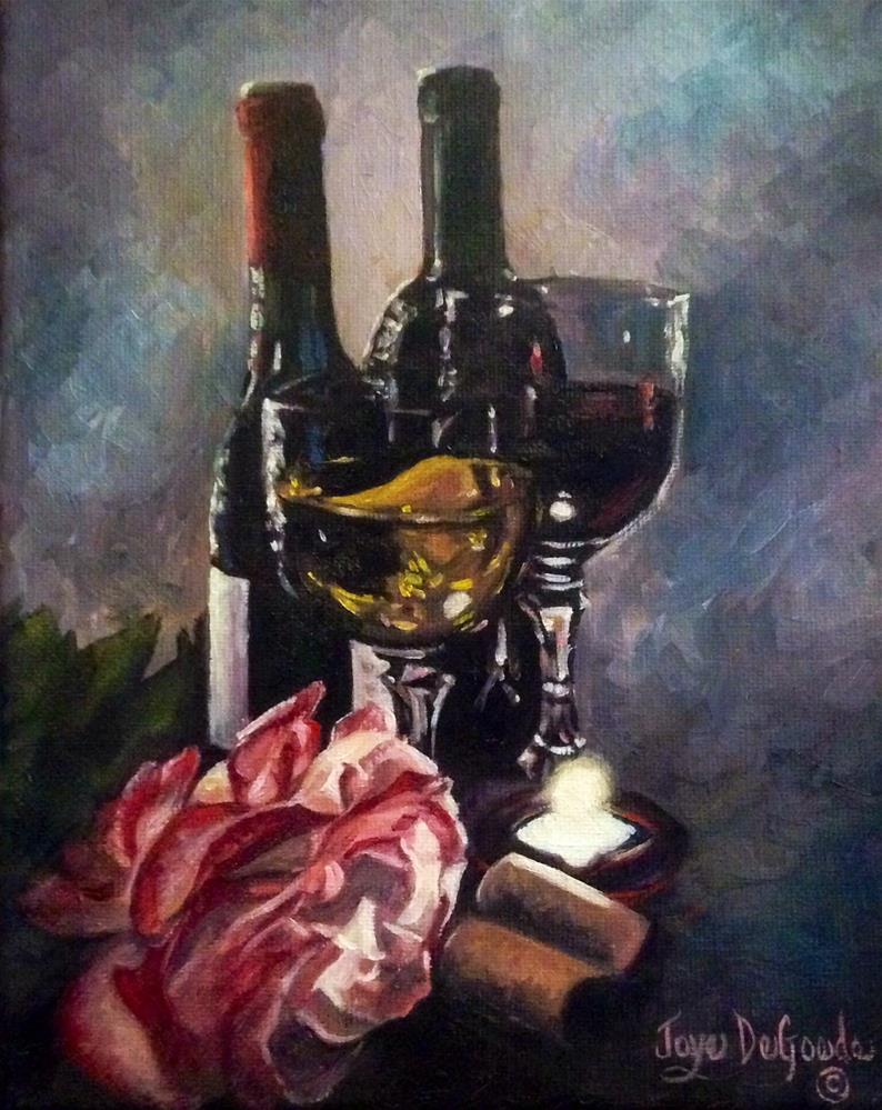 """""""Chiaroscuro Wine & Rose Series #9 by Joye DeGoede"""" original fine art by Joye DeGoede"""