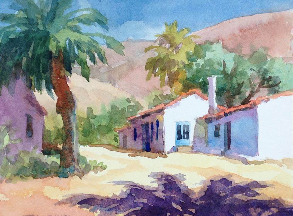 """Shadows and Palms"" original fine art by Erin Dertner"