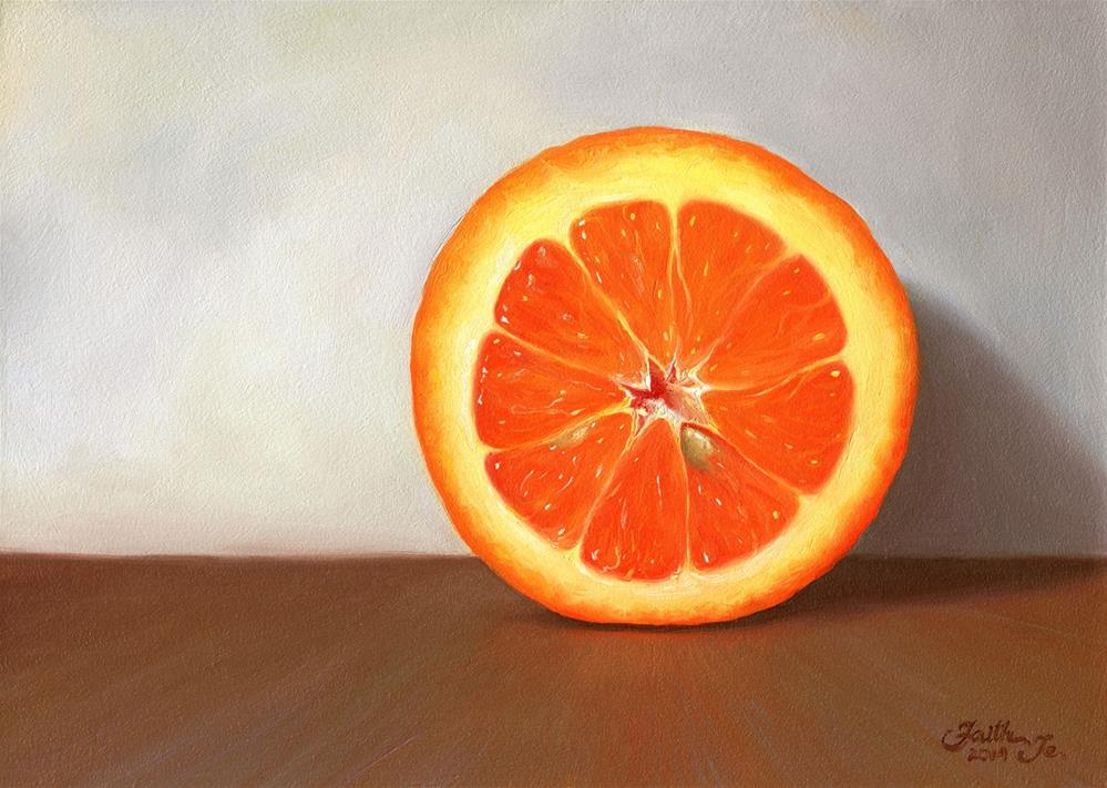 """Half Orange"" original fine art by Faith Te"