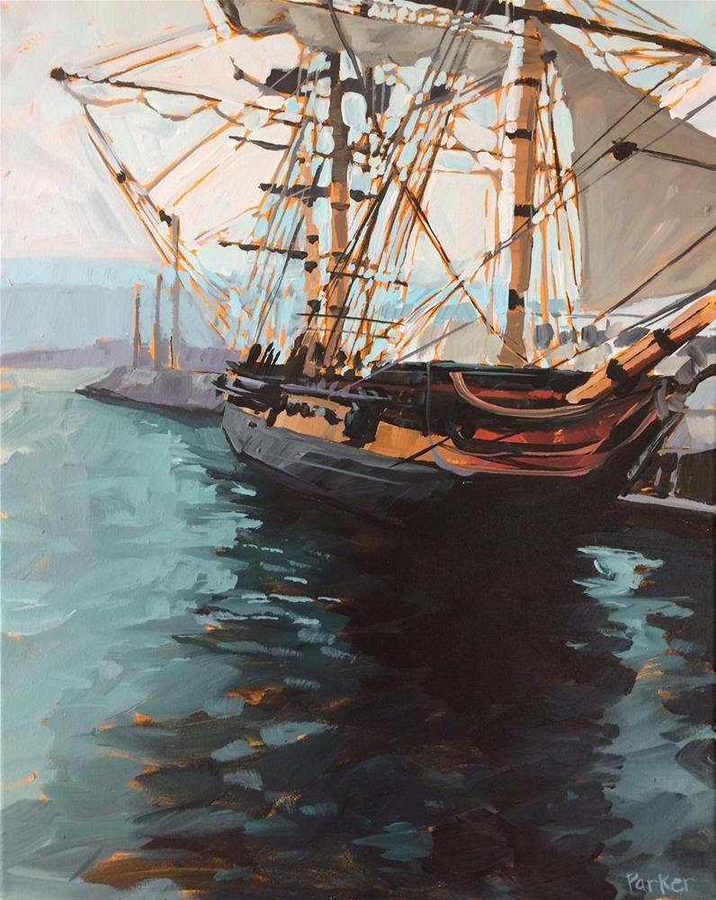 """San Diego Ship No.2"" original fine art by Teddi Parker"