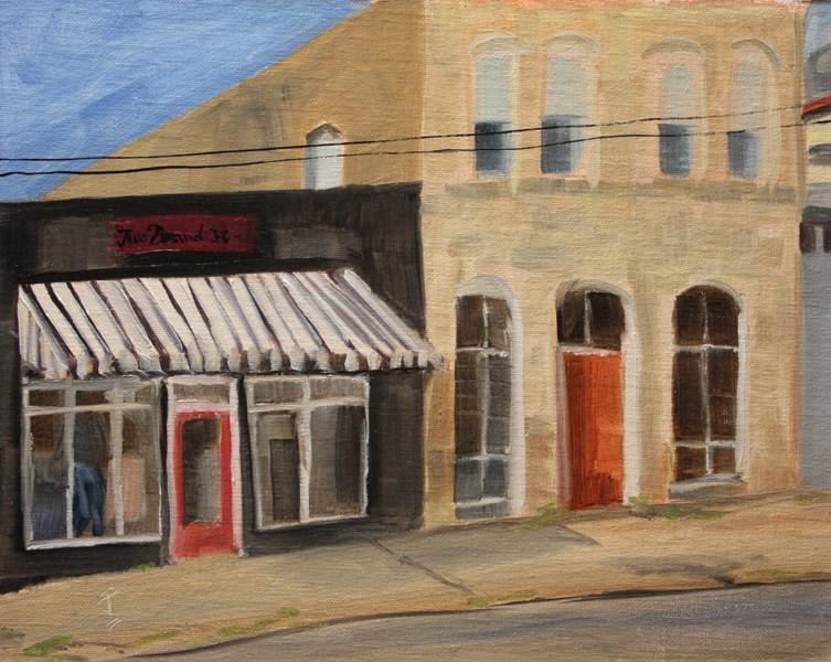 """Main Street Liberty Hill"" original fine art by Jane Frederick"