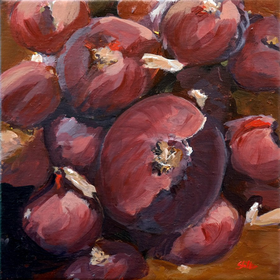 """1389 Onionred"" original fine art by Dietmar Stiller"