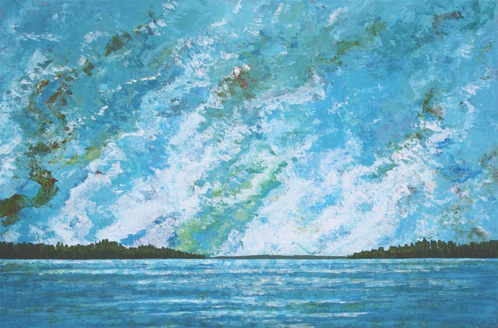 """Ocean of Light"" original fine art by Sage Mountain"