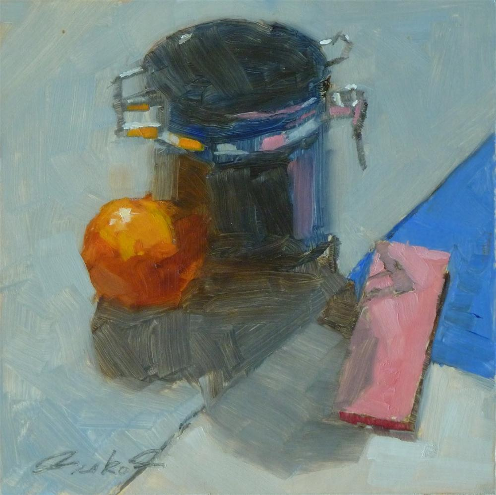 """Canister & Pink Post-its"" original fine art by Ron Ferkol"