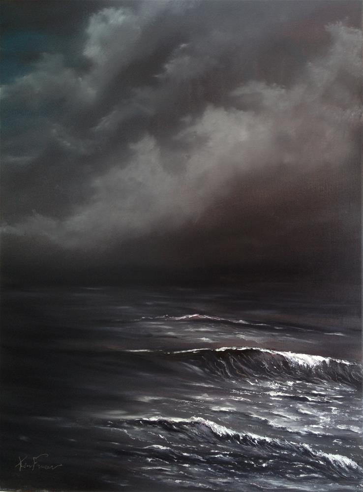"""Then Cometh A Storm II"" original fine art by Ken Fraser"