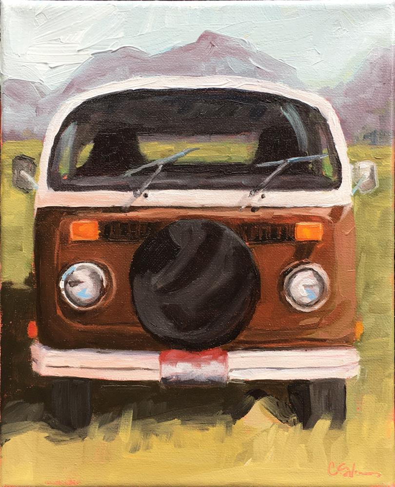 """Terry's Bus"" original fine art by Corinne Slusser"