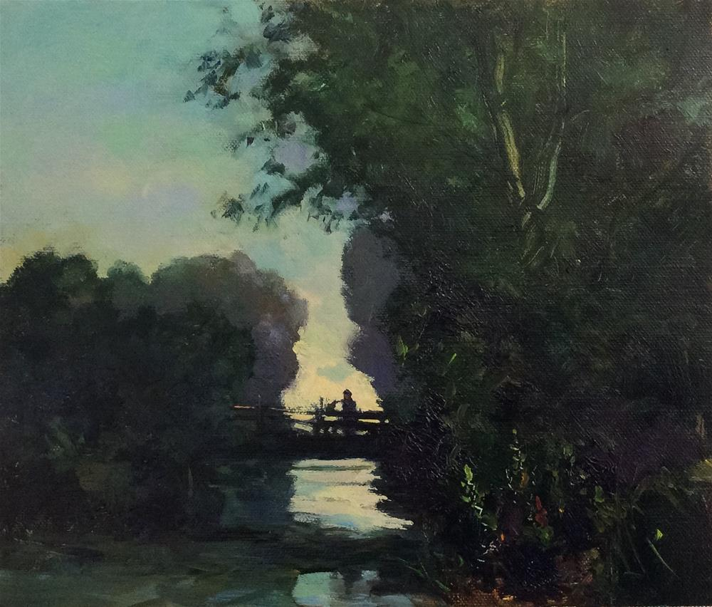 """Into the Light..River Bure"" original fine art by John Shave"