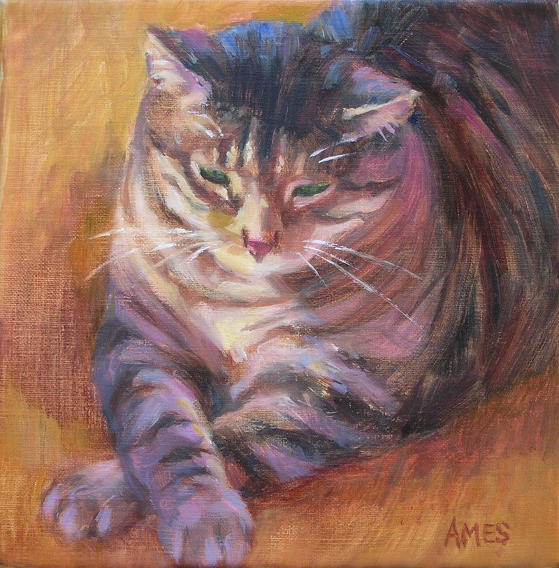 """Jabba"" original fine art by Debra Ames"