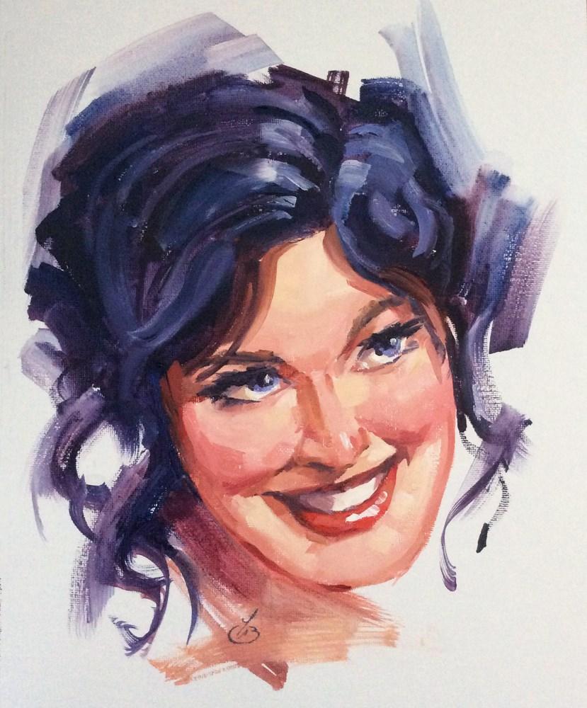 """WOMAN'S PORTRAIT"" original fine art by Tom Brown"