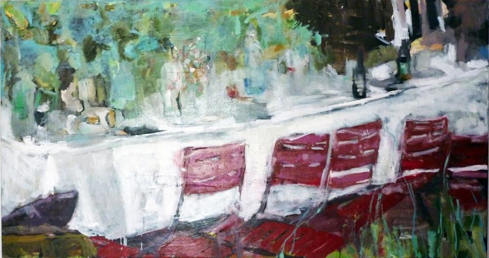 """das Gartenfest / the garden party"" original fine art by Mila Plaickner"