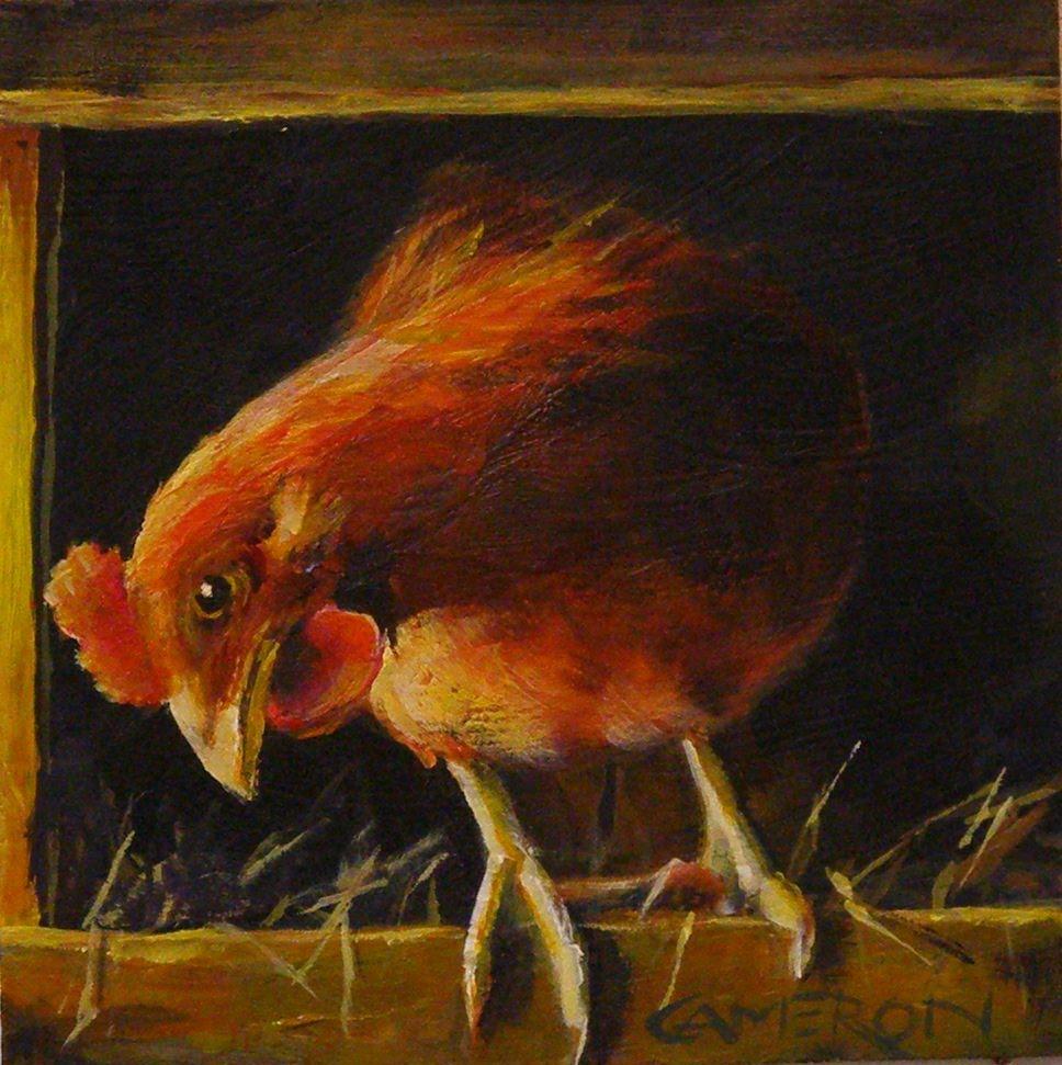 """LITTLE RED HEN"" original fine art by Brian Cameron"