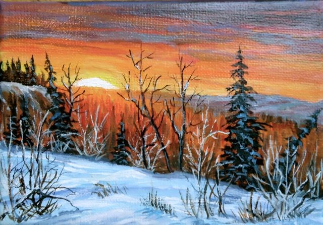 """Swim Lakes Trail, Yukon"" original fine art by Jackie Irvine"