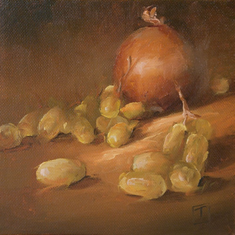 """Onion Study 1"" original fine art by Lori Twiggs"
