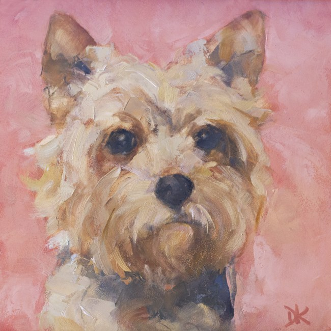 """Dog Days of Summer - Vincent of York - Yorkshire Terrier painting"" original fine art by Deb Kirkeeide"