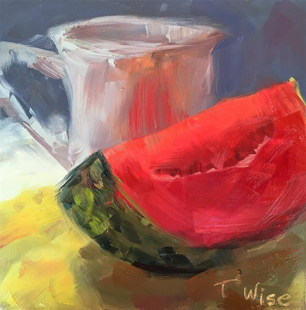 """Watermelon"" original fine art by Tracy Wise"