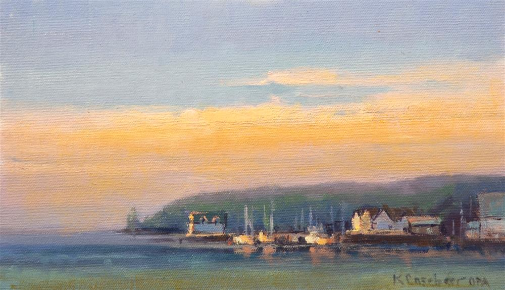 """Sister Bay Sunset"" original fine art by Kim Casebeer"