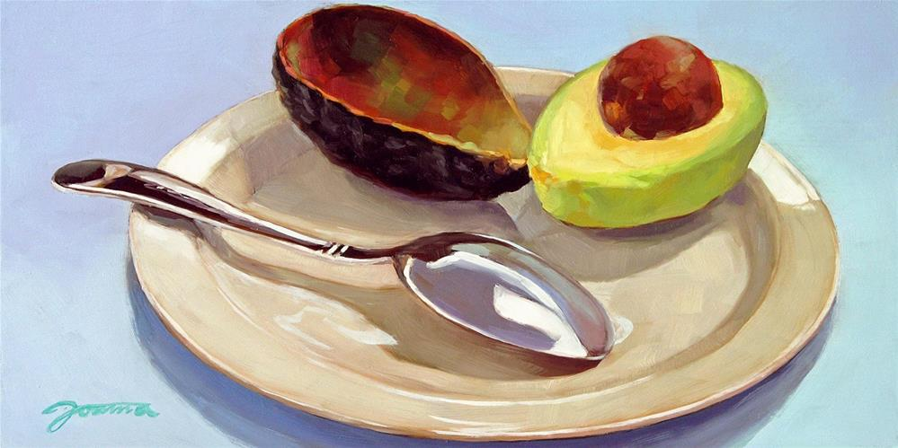 """Avocado Out Of The Shell"" original fine art by Joanna Bingham"
