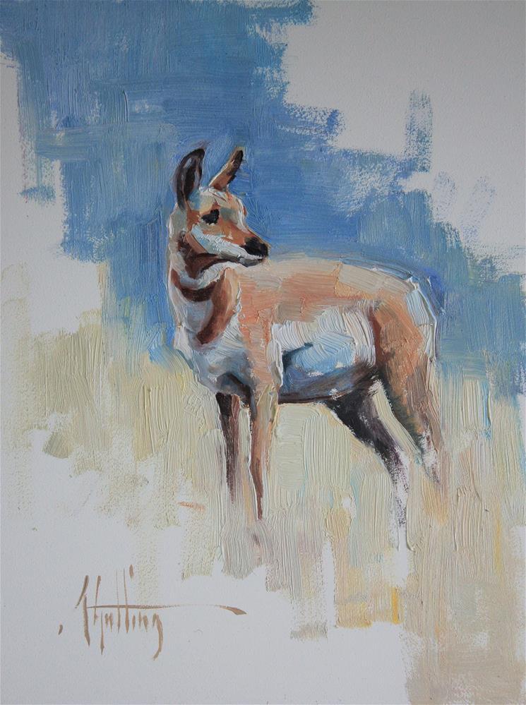 """Antelope Study #4 (fawn)"" original fine art by Abigail Gutting"