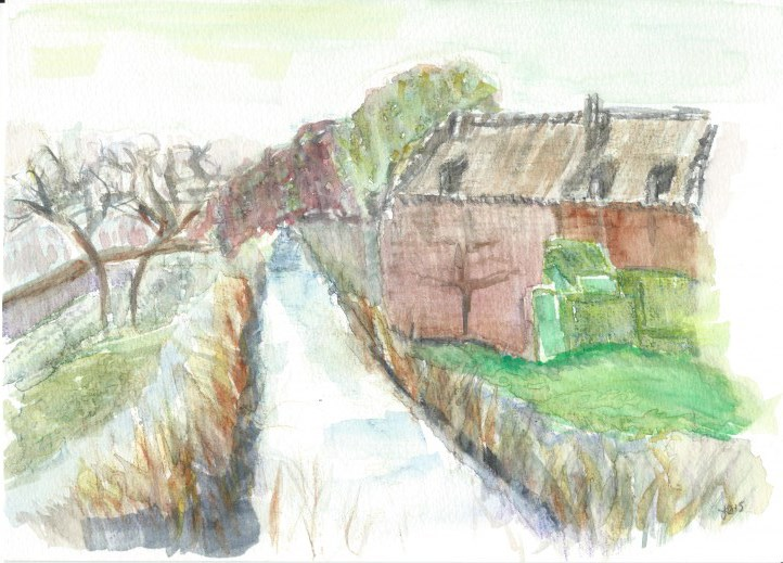 """Flemish Stream"" original fine art by Laura Denning"