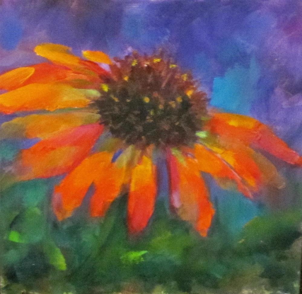 """""""Coneflower I"""" original fine art by Linda Carney"""