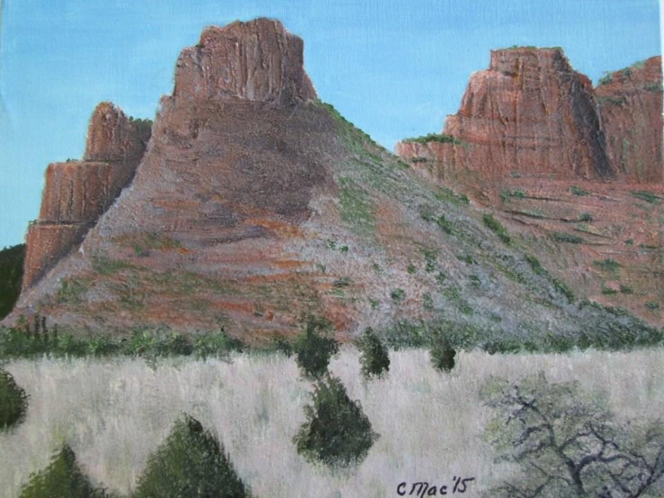 """Red Rocks of Sedona"" original fine art by Chris MacCormack"