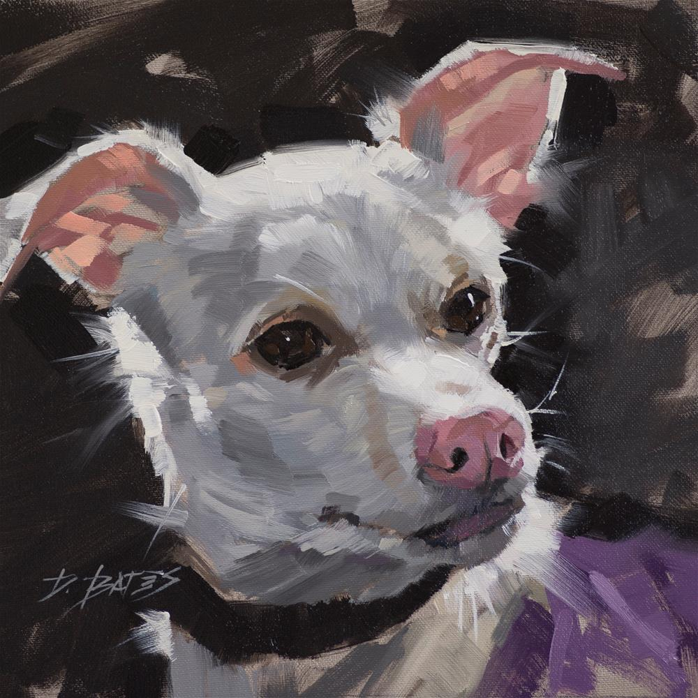 """Happy Pup"" original fine art by David Bates"