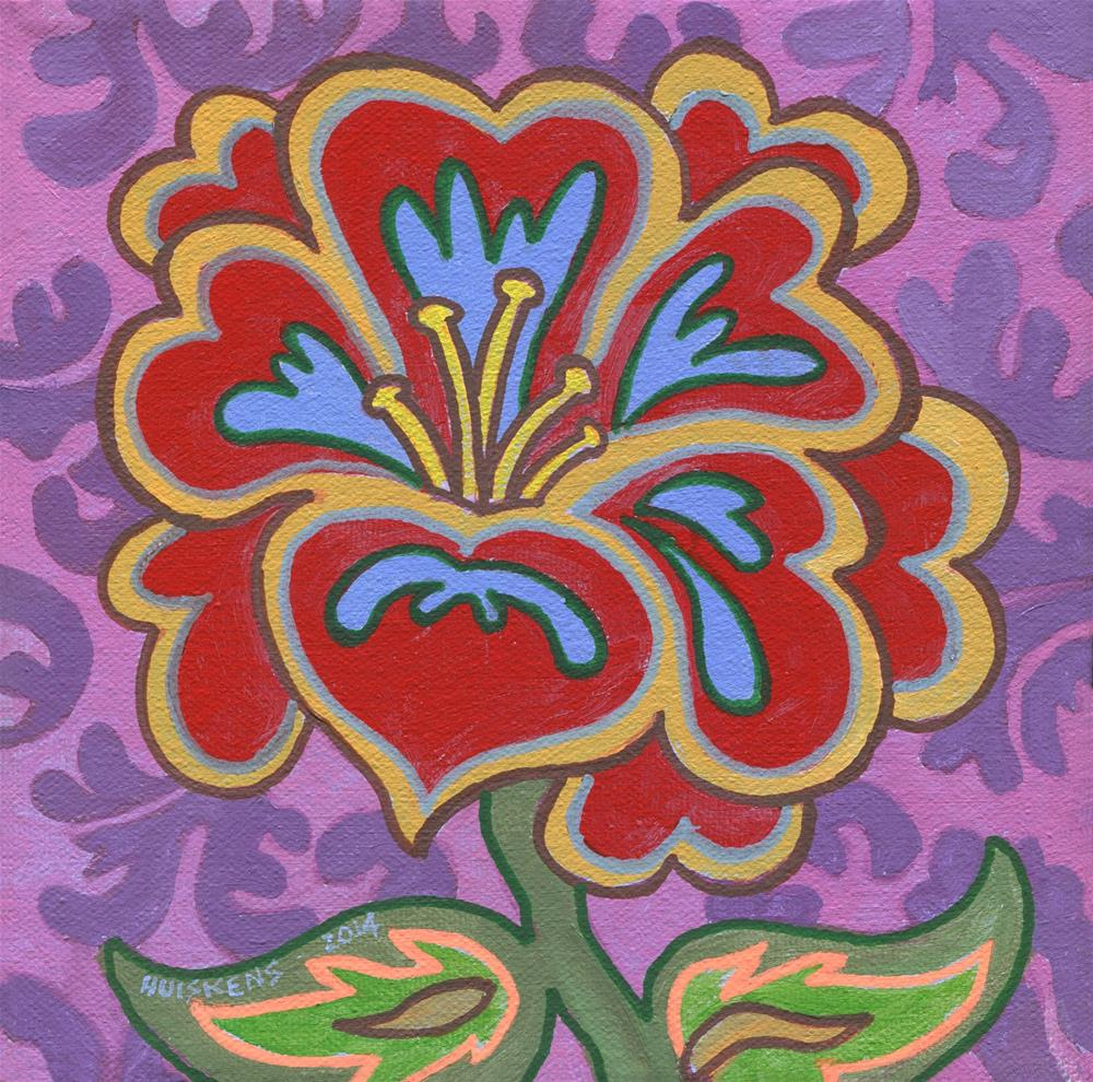 """Flower No. 5"" original fine art by Randal Huiskens"
