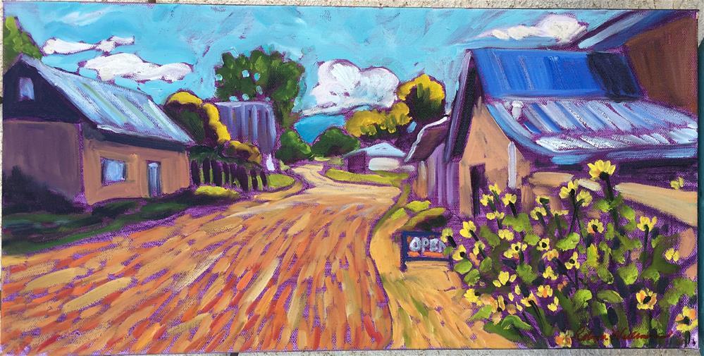 """The Drive through Truchas NM"" original fine art by Robyn Wellman"