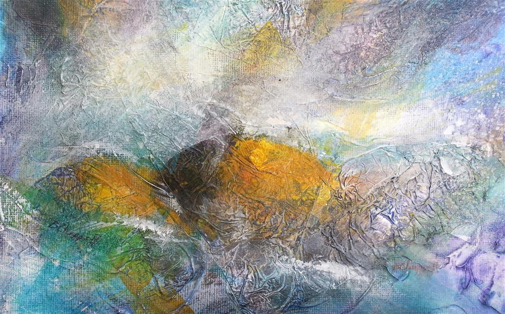 """Sea Turtle"" original fine art by Becky Chappell"