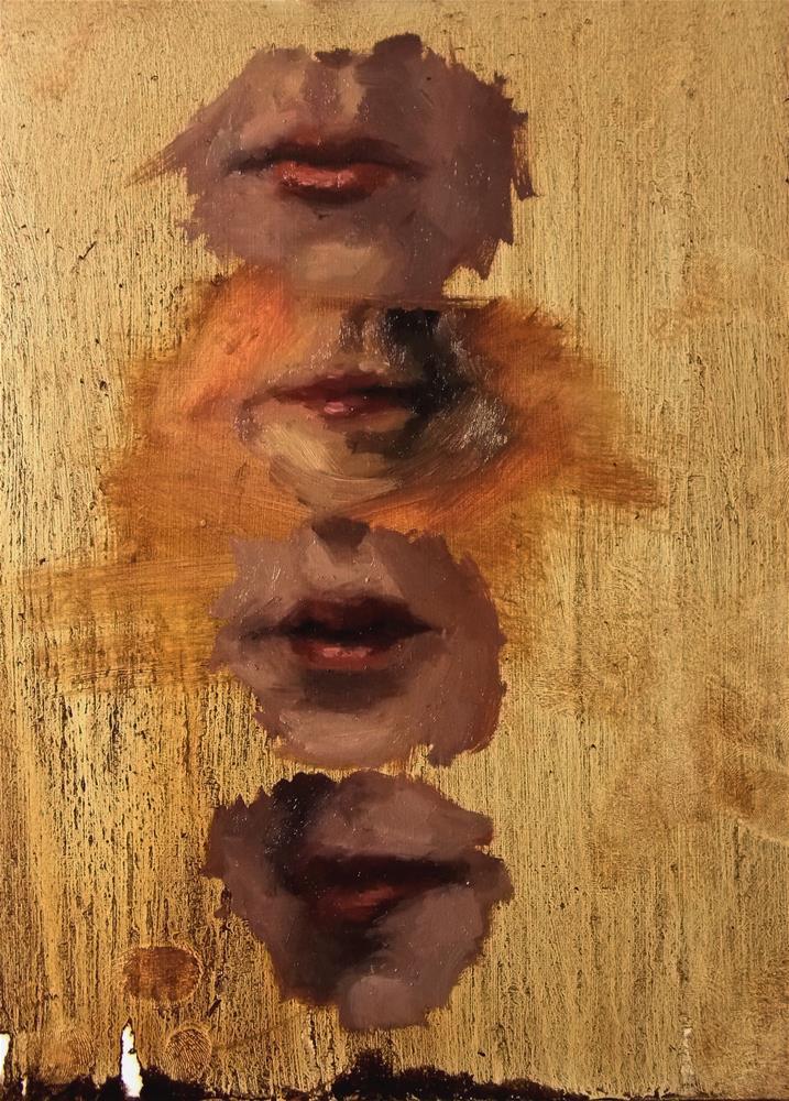 """Just a bunch of mouths"" original fine art by Aleksandra Uzarek"