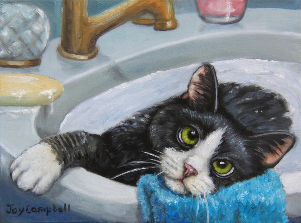 """Am I Done?"" original fine art by Joy Campbell"