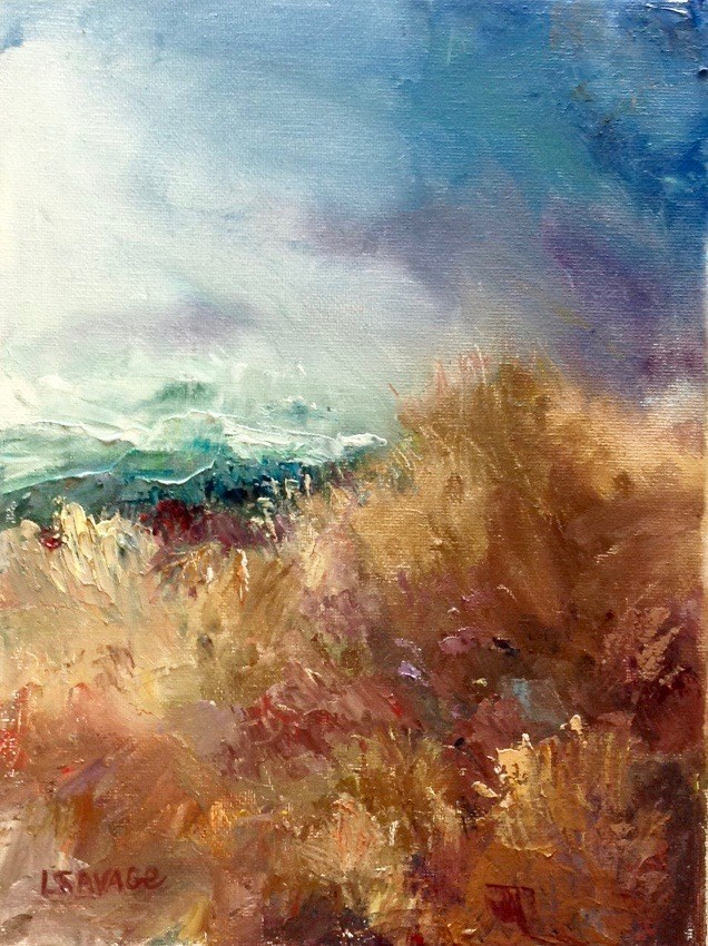 """Windswept"" original fine art by Judy Usavage"