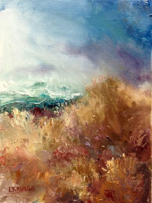 """Windswept"" original fine art by Judy Usavage"