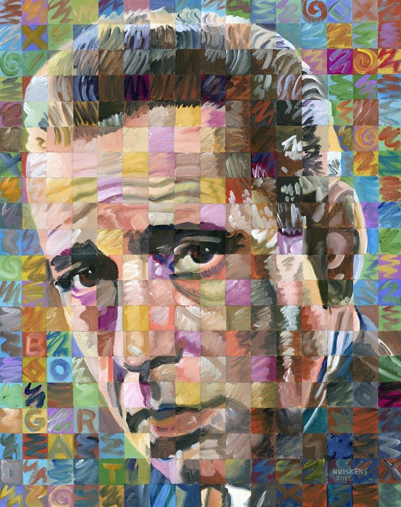 """""""Humphrey Bogart #2"""" original fine art by Randal Huiskens"""